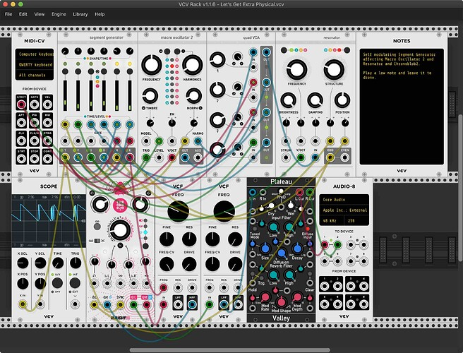 Let's Get Extra Physical VCV Rack Patch