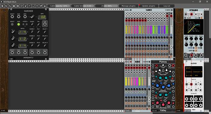 mixer with send s  - plugins  u0026 modules