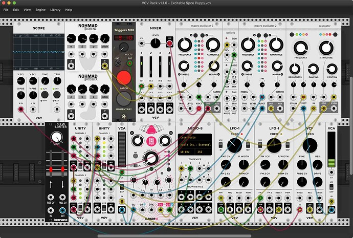 Excitable Space Puppy VCV Rack Patch