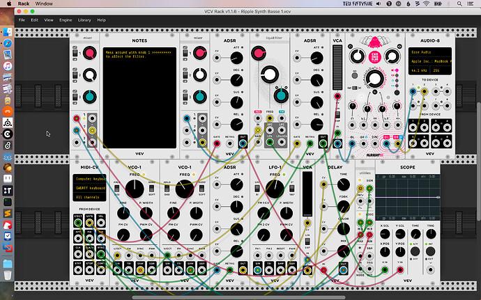 Screen shot of VCV Rack patch