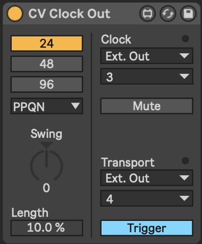 CV clock settings